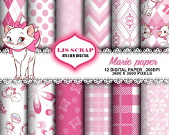 Kit Papel Digital Gata Marie 3