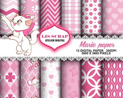 Kit Papel Digital Gata Marie 4