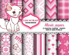 Kit Papel Digital Gata Marie 5