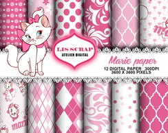 Kit Papel Digital Gata Marie 11