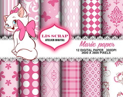 6 Kit Papel Digital Gata Marie