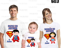 kit camisetas aniversario superman cute