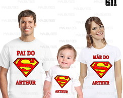 kit camisetas aniversario superman logo