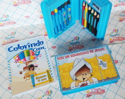 kit colorindo mini estojo + mini revista