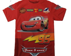 Camiseta Adulto Carro Cars McQueen