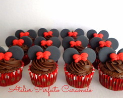 mini cupcake decorado minnie