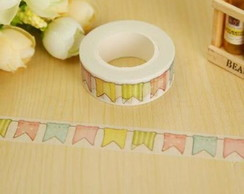 Fita Adesiva Washing Tape Flamingo