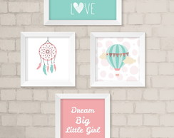 Kit de Quadros - Dream Big Little Girl