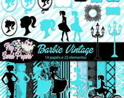 KIT DIGITAL Barbie Vintage Azul Tiffany