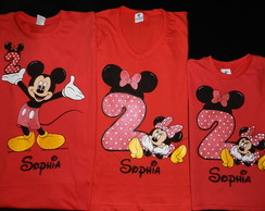 KIT c/3 Camiseta -Minnie e Mickey(Idade)