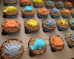 Mini Cupcakes - Fundo do Mar