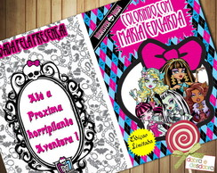 Revista Colorir - Monster High