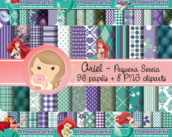 Kit Digital Scrapbook ARIEL pacotão
