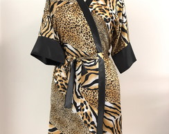 Animal print Robe Cetim 36-38