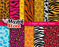 Kit Papel Digital animal - Scrapbook 03