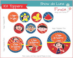 Kit Digital Toppers Show da Luna
