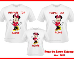 Kit 3 camisetas Personalizadas Minnie