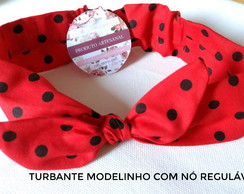 Turbante nó regulável/estampas diversas