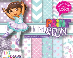 Kit Papel Digital Dora bailarina
