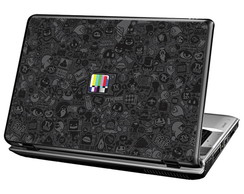 Skin Para Notebook - Sticker Bombs - B&W