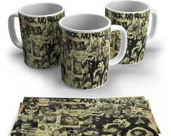 Caneca Porcelana Rock and Roll
