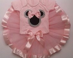 Kit tutu Minnie rosa Luxo