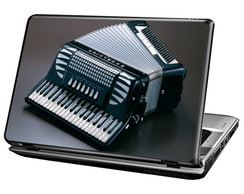 Skin Para Notebook - Acordeon