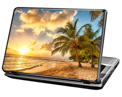 Skin Para Notebook - Praia Tropical