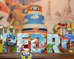 Letras 3D Super Wings