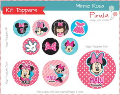 Kit Digital Toppers Minnie Rosa