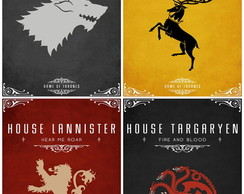 Gravura Para Quadro - Game Of Thrones
