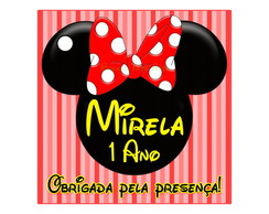 Tag Minnie Mouse vermelha