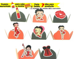 100 forminhas p/ doces Betty Boop