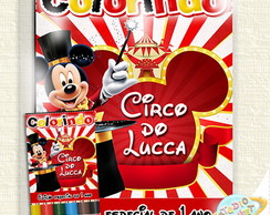 Kit de colorir Mickey circo