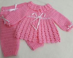 ... Conjunto para bebê em crochê 780550ecdcc6b