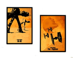 Quadros Star Wars (At-At & Tie-Fighter)