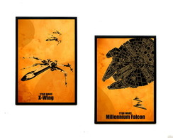 Quadros Star Wars (X-Wing & M. Falcon)