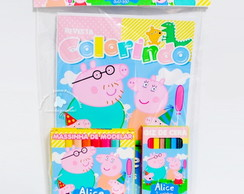 Kit Colorir Peppa Pig com Massinha