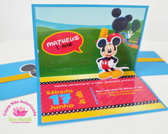 Convite Mickey pop up