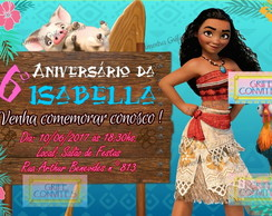 Convite Digital Moana - Arte Digital