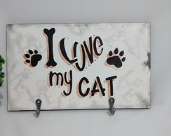 Porta Coleira I Love My Cat