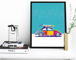 poster Fusca Surf 220 30x40