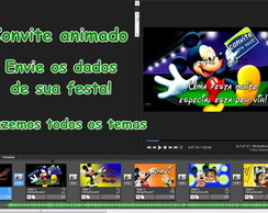 convite digital animado Mickey Mouse