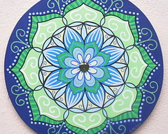 Mandala Blue and Green - pronta entrega