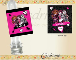 Adesivo tubetes monster high