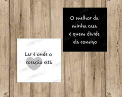 Quadro Placa decorativa - Conjunto LAR