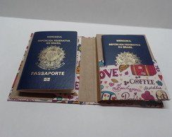 Porta Passaporte com Sketchbook Paris