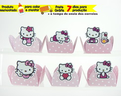100 forminhas p/ doces Hello Kitty