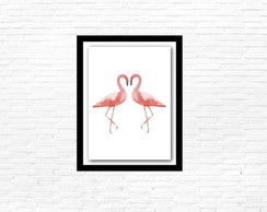 Quadro decorativo Flamingos in love