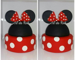 Bolo fake Minnie ou Mickey biscuit